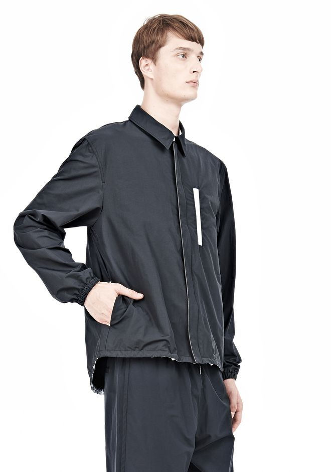 T by ALEXANDER WANG LIGHTWEIGHT NYLON COLLARED SHIRT JACKET JACKETS AND OUTERWEAR  Adult 12_n_a