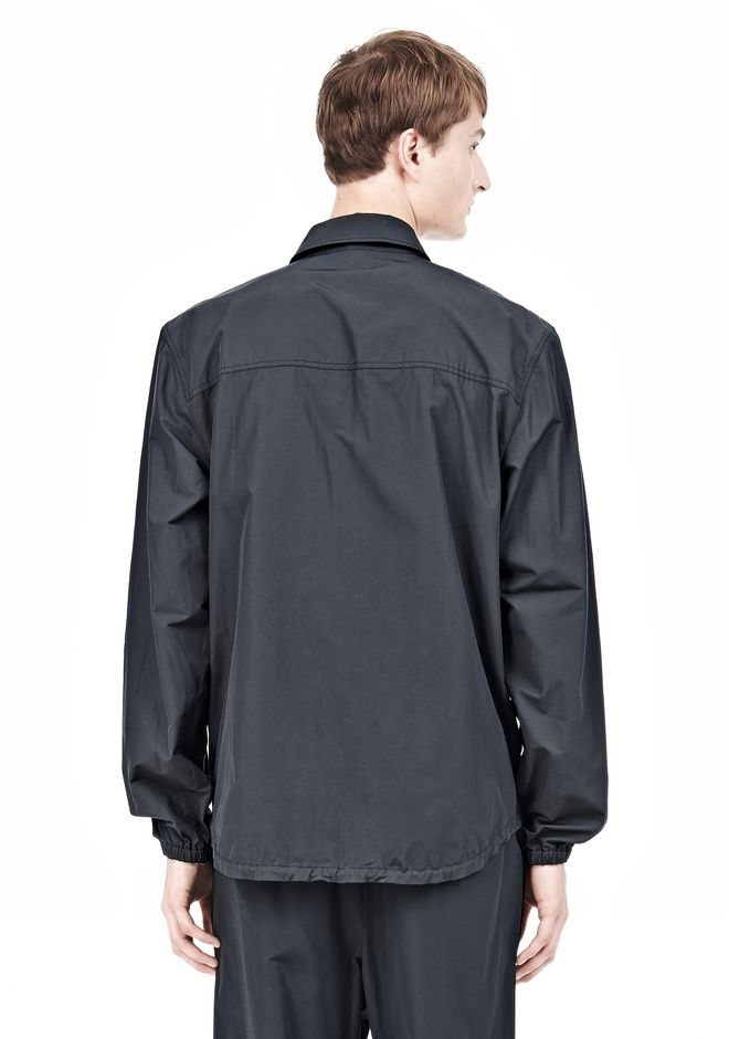 T by ALEXANDER WANG LIGHTWEIGHT NYLON COLLARED SHIRT JACKET JACKETS AND OUTERWEAR  Adult 12_n_d