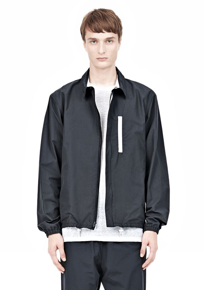 T by ALEXANDER WANG LIGHTWEIGHT NYLON COLLARED SHIRT JACKET JACKETS AND OUTERWEAR  Adult 12_n_e