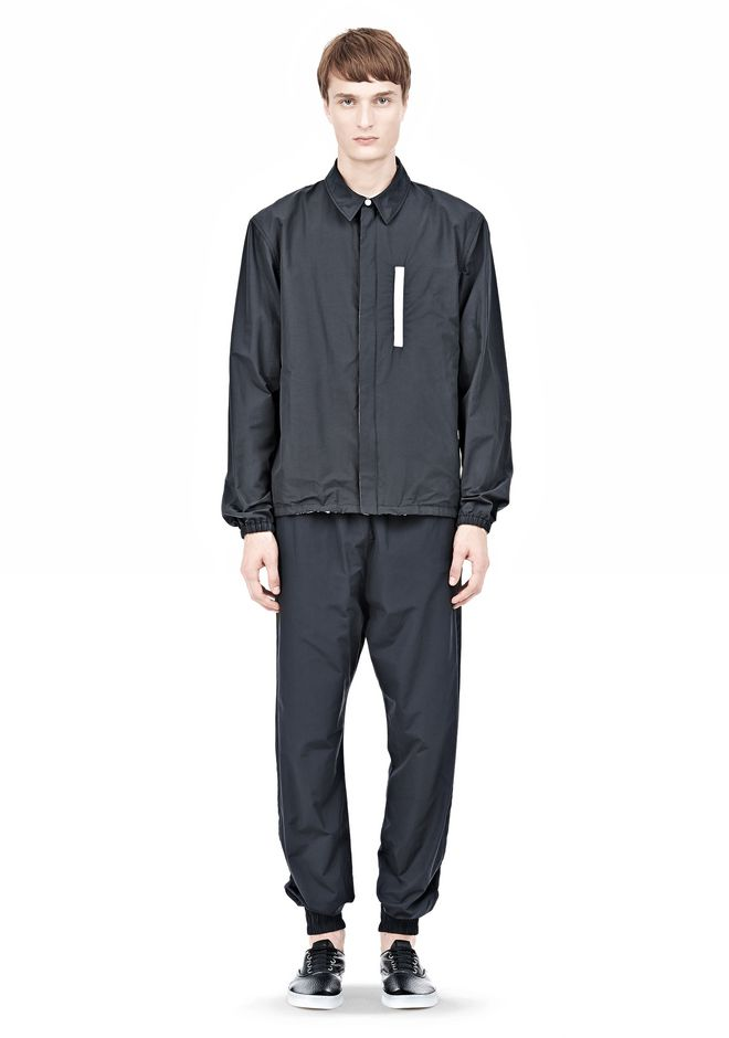 T by ALEXANDER WANG LIGHTWEIGHT NYLON COLLARED SHIRT JACKET JACKETS AND OUTERWEAR  Adult 12_n_f