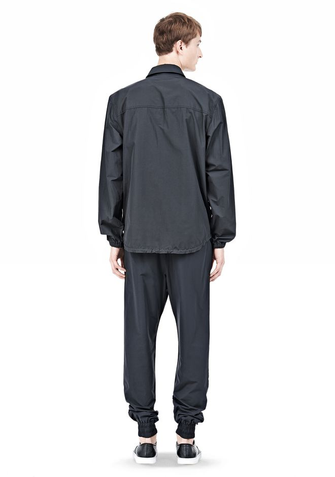 T by ALEXANDER WANG LIGHTWEIGHT NYLON COLLARED SHIRT JACKET JACKETS AND OUTERWEAR  Adult 12_n_r