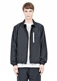T by ALEXANDER WANG LIGHTWEIGHT NYLON COLLARED SHIRT JACKET JACKETS AND OUTERWEAR  Adult 8_n_e