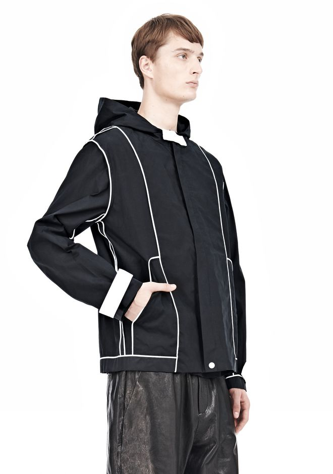 T by ALEXANDER WANG WAX COTTON INSIDE OUT HOODED JACKET JACKETS AND OUTERWEAR  Adult 12_n_a