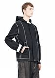 T by ALEXANDER WANG WAX COTTON INSIDE OUT HOODED JACKET JACKETS AND OUTERWEAR  Adult 8_n_a