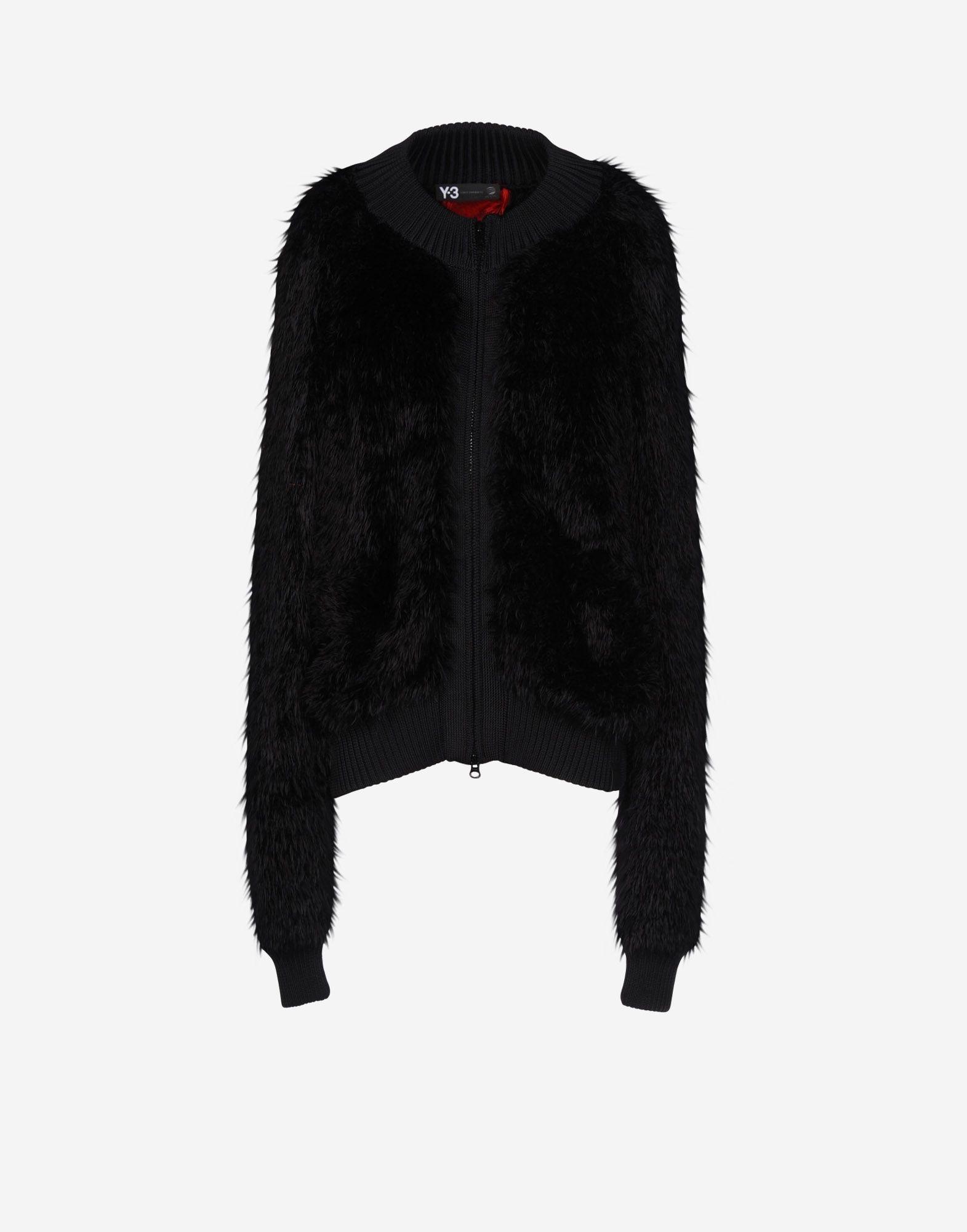 6b8af2064b8e ... Y-3 Y-3 Fur Knit Jacket Jacket Woman f ...