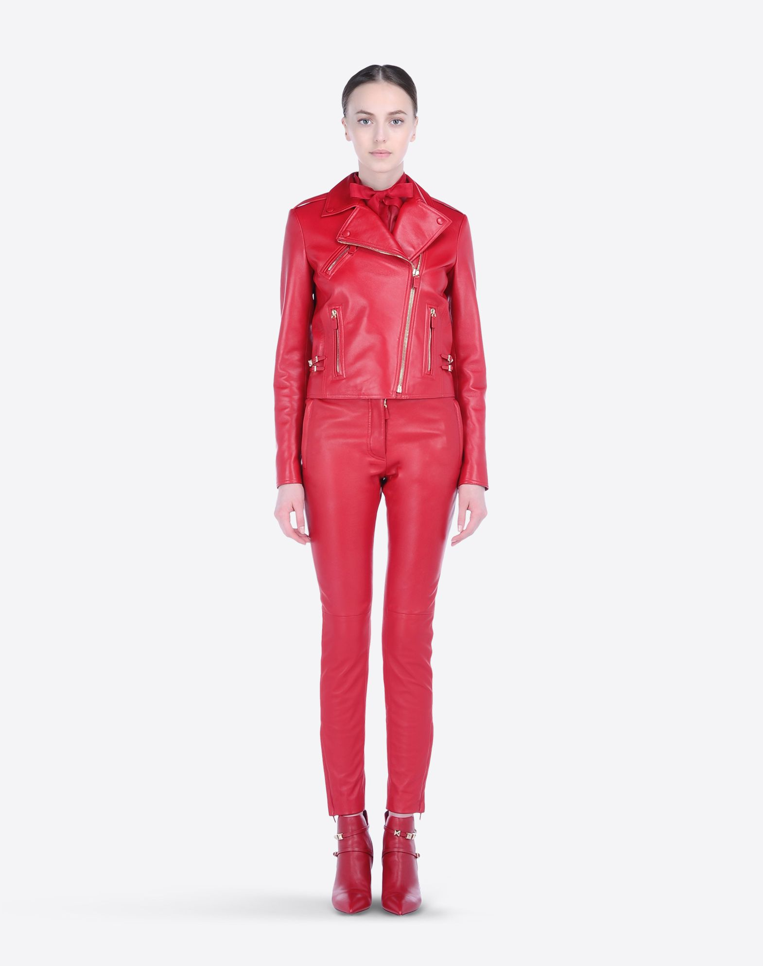 VALENTINO Flashes Strap detailing Solid color Lapel collar Zipped cuffs External zip pockets Zip Lined interior Long sleeves  41435824av