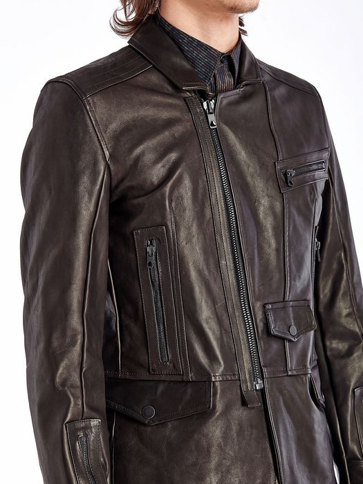 DIESEL BLACK GOLD LEPRIT Leather jackets U a