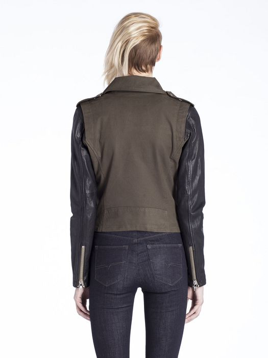 DIESEL L-LUPUS-C Leather jackets D e