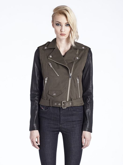 DIESEL L-LUPUS-C Leather jackets D f