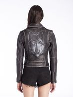 DIESEL L-LUPUS-A Leather jackets D e