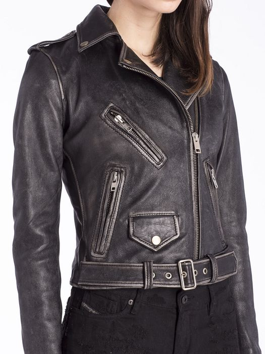 DIESEL L-LUPUS-A Leather jackets D a