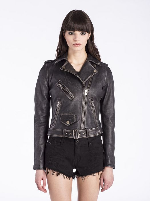 DIESEL L-LUPUS-A Leather jackets D f