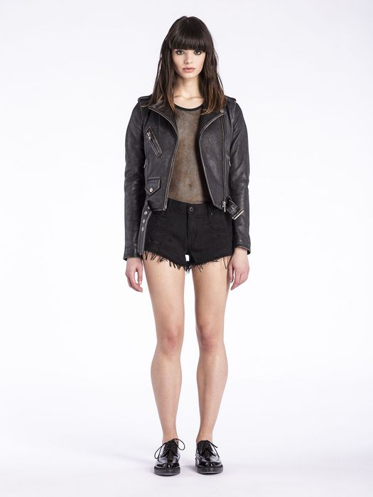 DIESEL L-LUPUS-A Leather jackets D r
