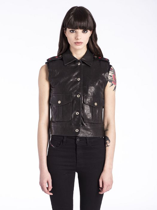 DIESEL L-CLUSTER Leather jackets D f