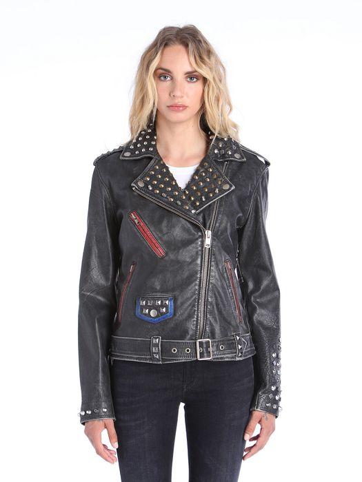 DIESEL L-ALFIE Leather jackets D f