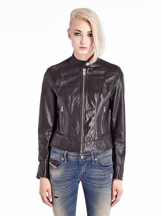 DIESEL L-SPICE-A Leather jackets D f