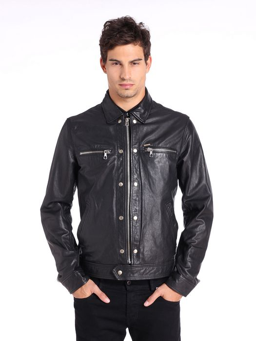 DIESEL L-BUNMI Leather jackets U f