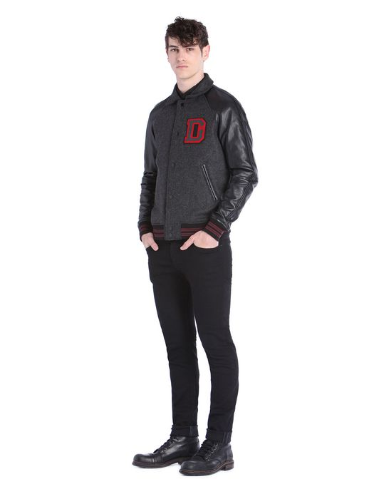 DIESEL L-DAYAN Leather jackets U r