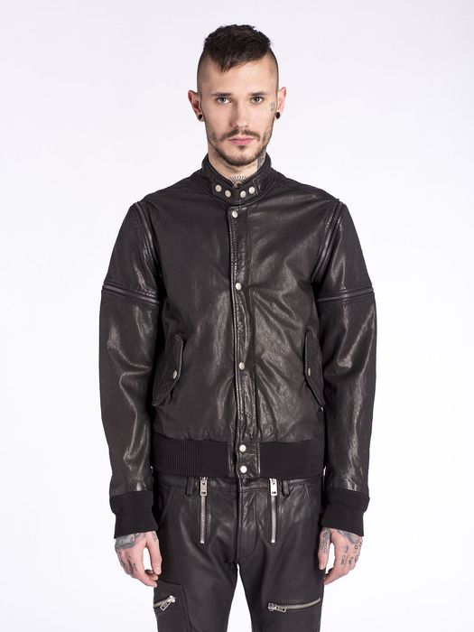 DIESEL L-GHITA Leather jackets U f