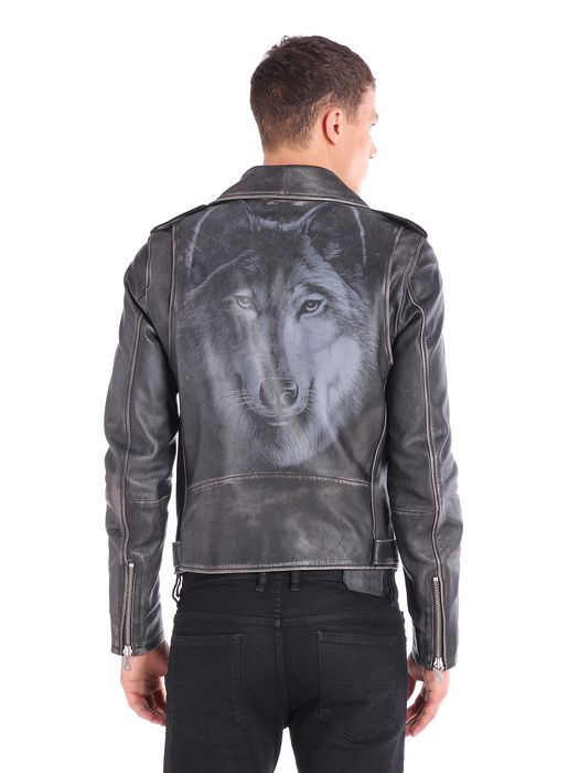 DIESEL L-SEDDIK Leather jackets U e