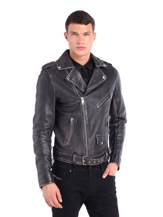 DIESEL L-SEDDIK Leather jackets U f
