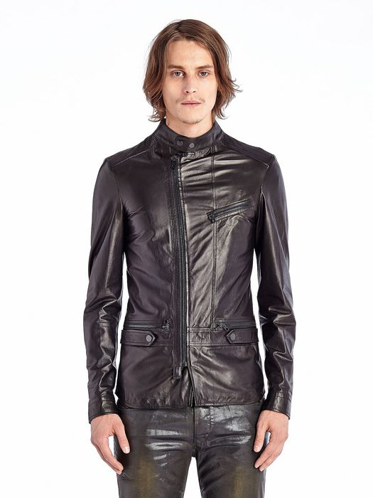 DIESEL BLACK GOLD LUSTYNO Leather jackets U f