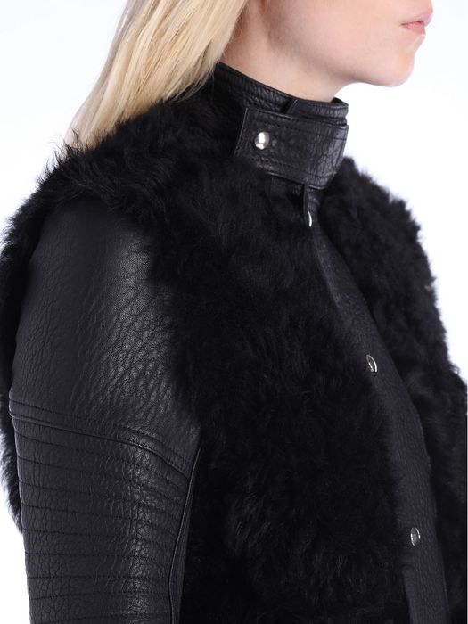 DIESEL BLACK GOLD LESSFUR Leather jackets D a