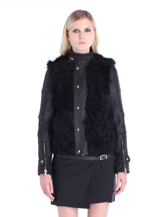DIESEL BLACK GOLD LESSFUR Leather jackets D f