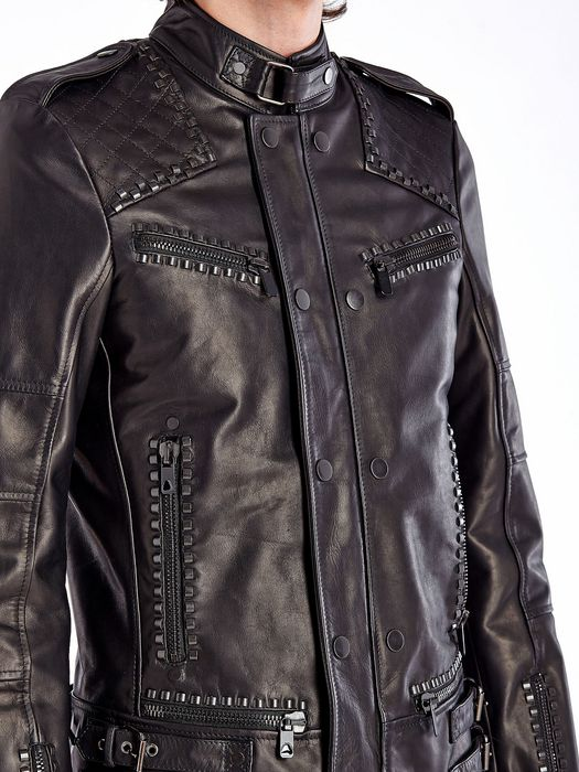 DIESEL BLACK GOLD LESTUDS Leather jackets U a
