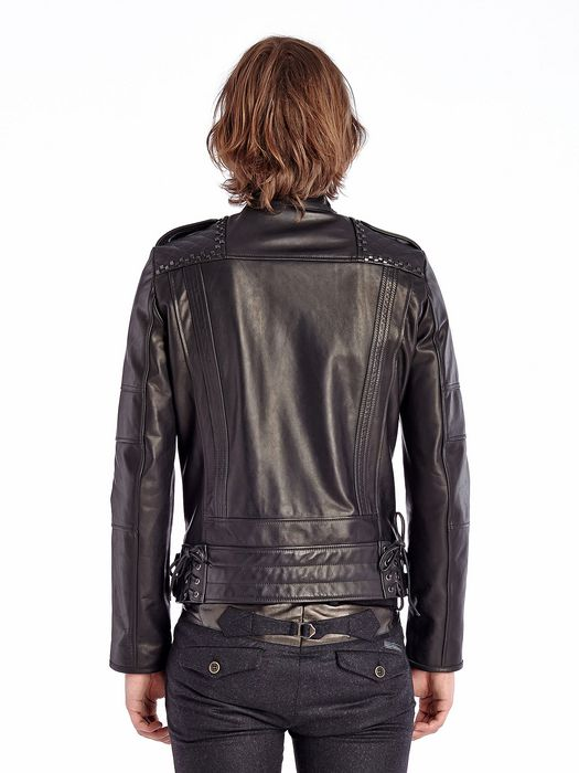 DIESEL BLACK GOLD LESTUDS Leather jackets U e