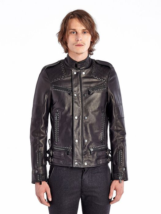 DIESEL BLACK GOLD LESTUDS Leather jackets U f