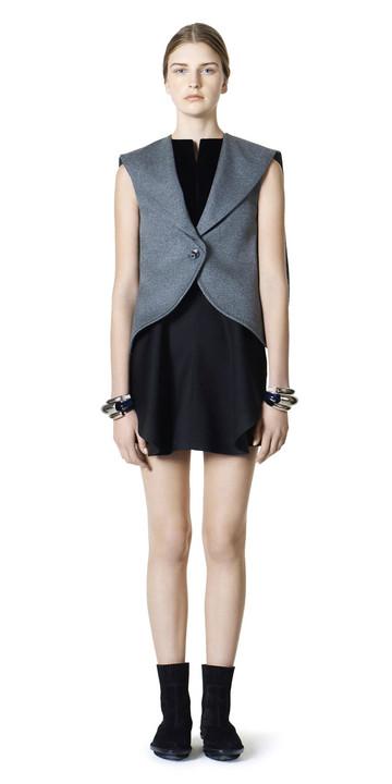 BALENCIAGA Jacket D Balenciaga Waisted Sleeveless Jacket f