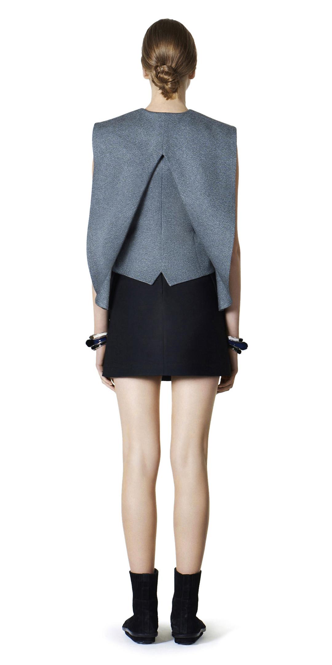 BALENCIAGA Jacket D Balenciaga Waisted Sleeveless Jacket i