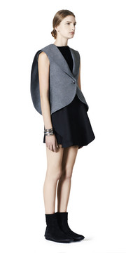 BALENCIAGA Jacket D Balenciaga Waisted Sleeveless Jacket f