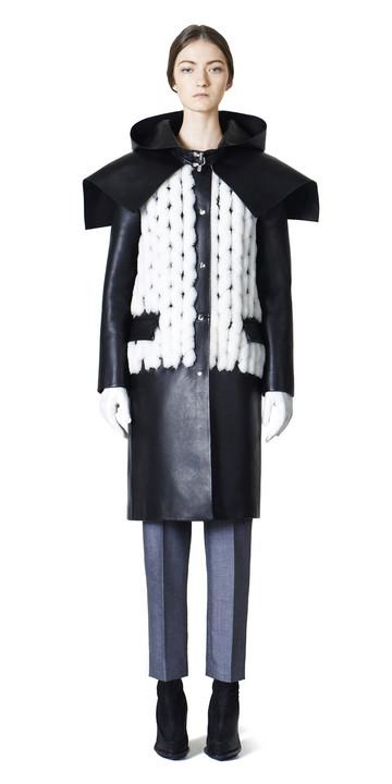 Balenciaga Spiral Leather Coat