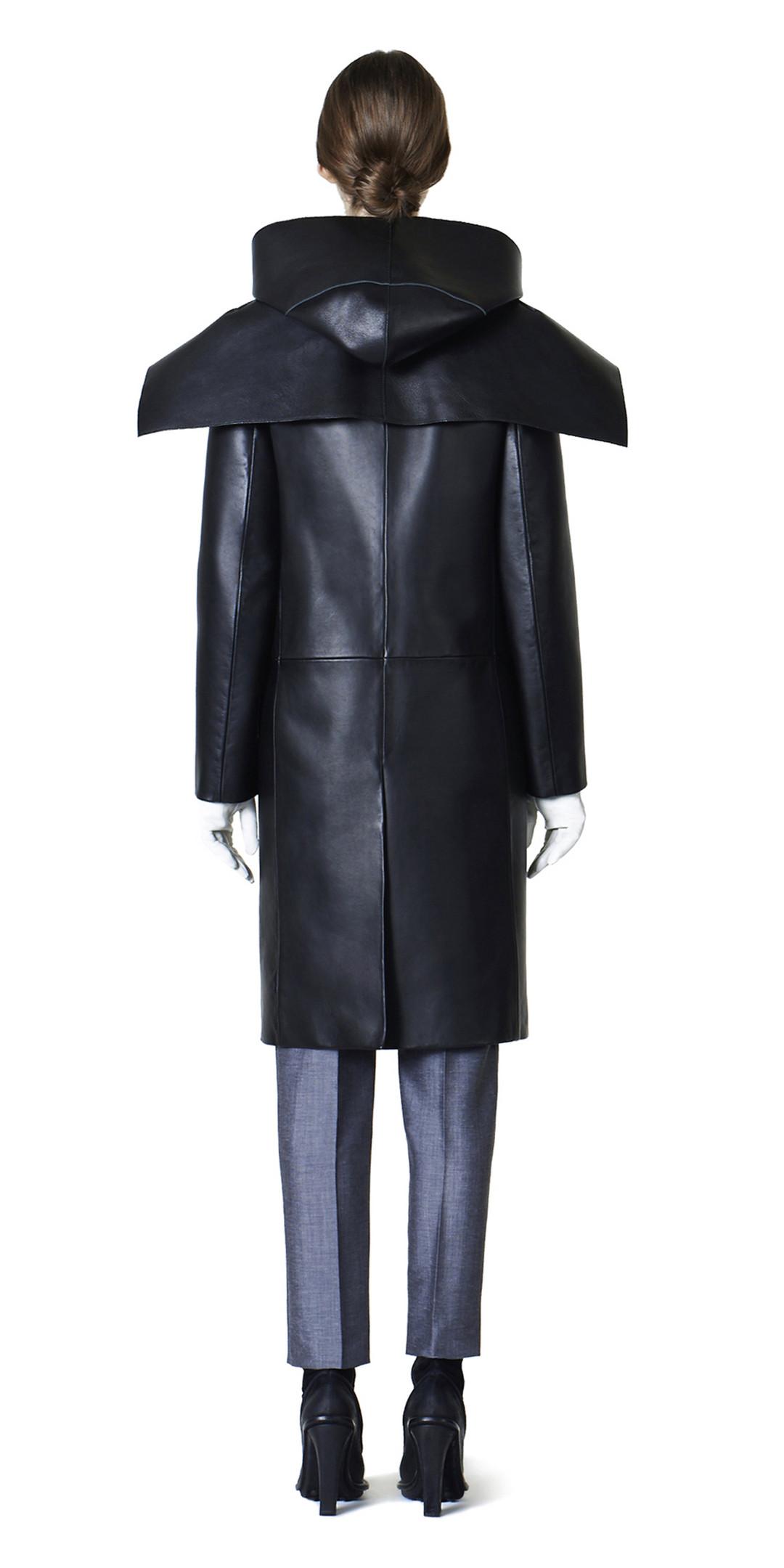 BALENCIAGA Coats D Balenciaga Spiral Leather Coat i