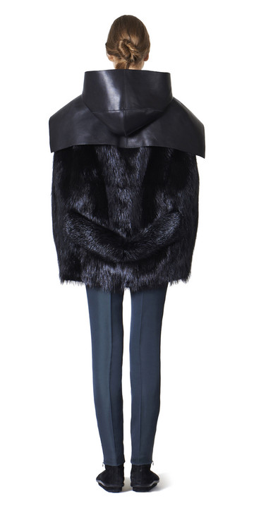 BALENCIAGA Coats D Balenciaga Toggle Fur Cape f