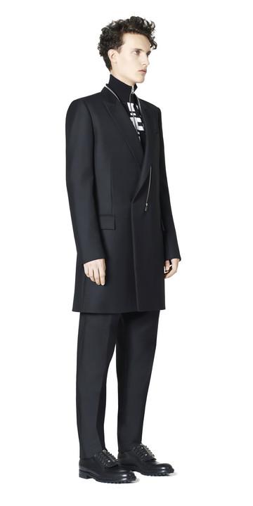BALENCIAGA Coats U Balenciaga Double Breasted Zipped Coat f