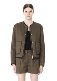 ALEXANDER WANG QUILTED BOMBER JACKET WITH LEATHER DETAIL Jacket Adult 8_n_d