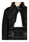 ALEXANDER WANG CUTAWAY TRENCH WITH CONTRAST STITCHING Jacket Adult 8_n_a