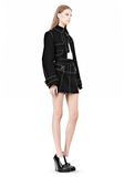 ALEXANDER WANG CUTAWAY TRENCH WITH CONTRAST STITCHING Jacket Adult 8_n_e