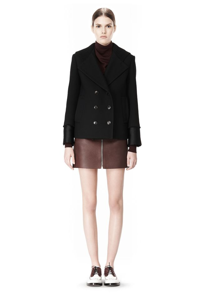 ALEXANDER WANG DOUBLE BREASTED PEA COAT WITH HOOD JACKETS AND OUTERWEAR  Adult 12_n_f
