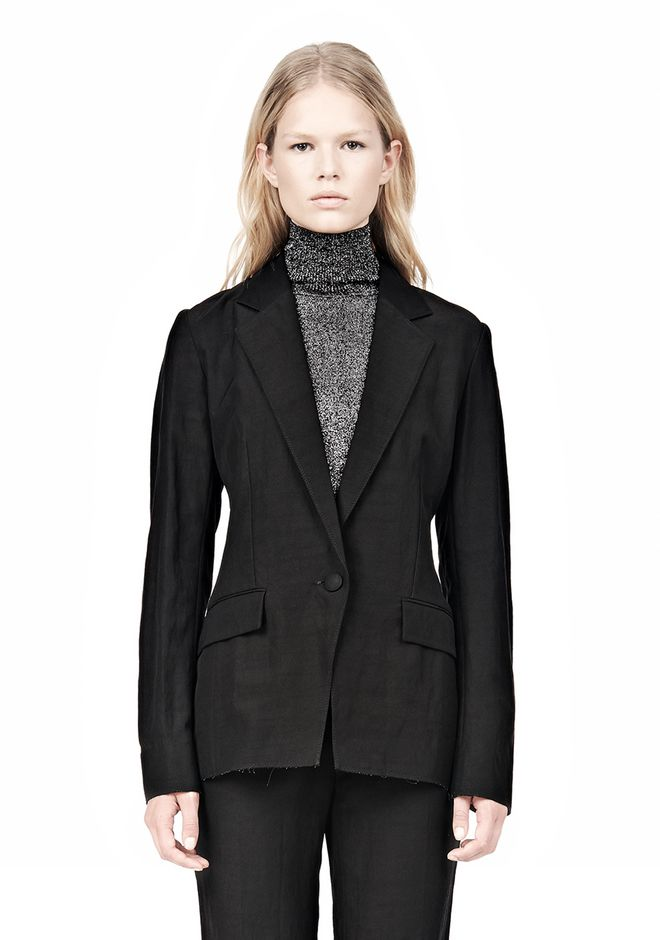 ALEXANDER WANG VACUUM PRESSED BLAZER WITH IRREGULAR PLEATS JACKETS AND OUTERWEAR  Adult 12_n_a