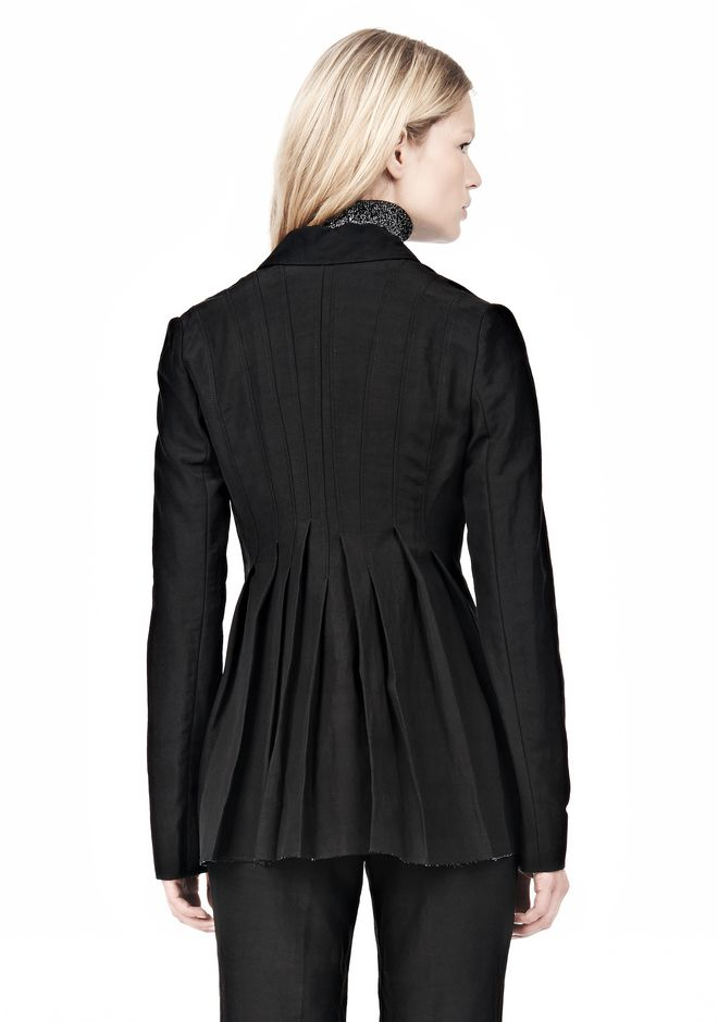 ALEXANDER WANG VACUUM PRESSED BLAZER WITH IRREGULAR PLEATS JACKETS AND OUTERWEAR  Adult 12_n_d