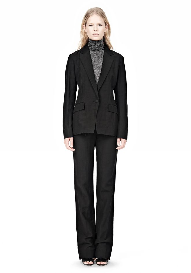 ALEXANDER WANG VACUUM PRESSED BLAZER WITH IRREGULAR PLEATS JACKETS AND OUTERWEAR  Adult 12_n_f