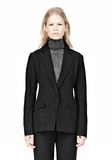ALEXANDER WANG VACUUM PRESSED BLAZER WITH IRREGULAR PLEATS JACKETS AND OUTERWEAR  Adult 8_n_a