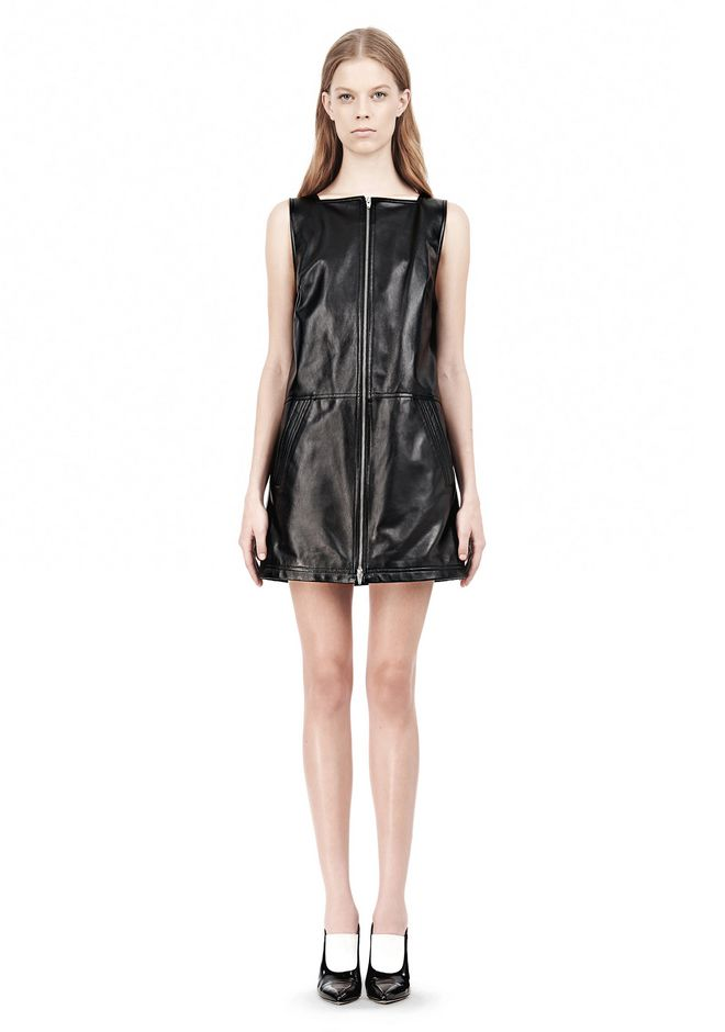 T by ALEXANDER WANG SQUARE NECK SHIFT DRESS Short Dress Adult 12_n_d