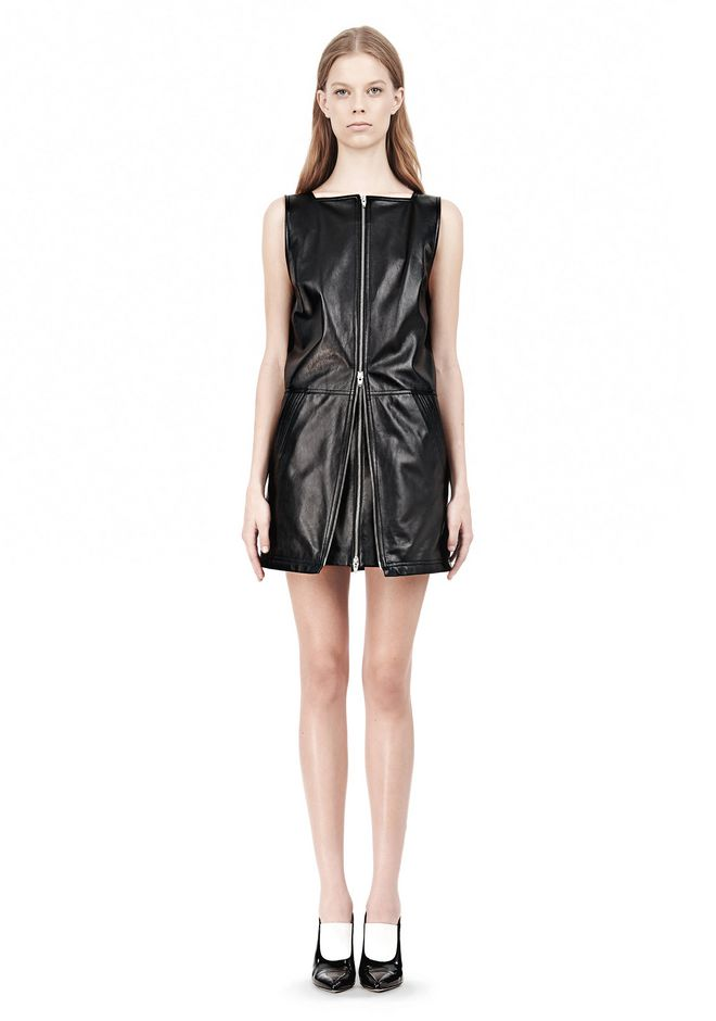 T by ALEXANDER WANG SQUARE NECK SHIFT DRESS Short Dress Adult 12_n_f