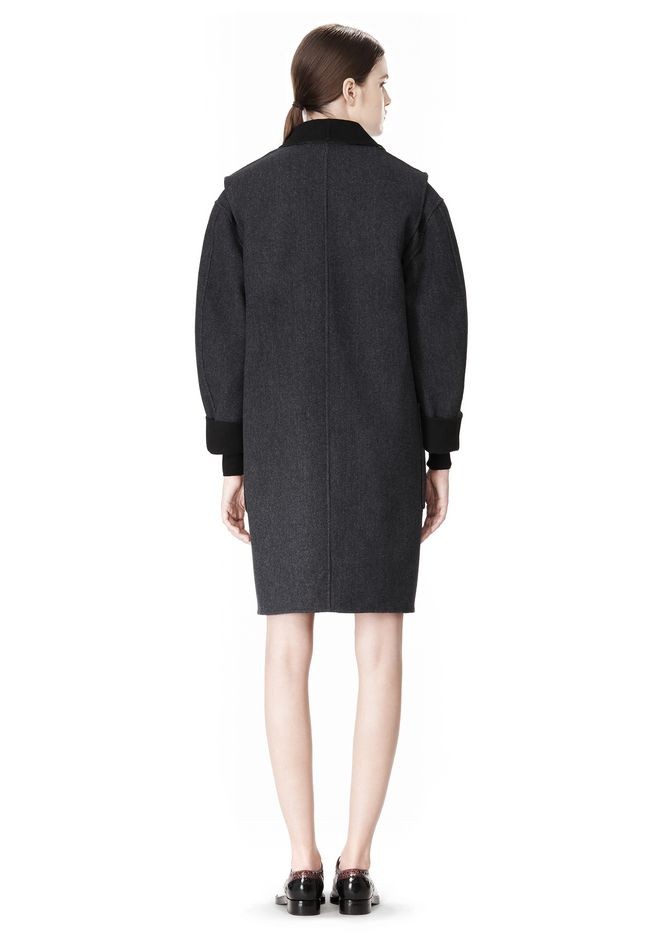 ALEXANDER WANG 2-IN-1 REVERSIBLE DOUBLE BREASTED COCOON COAT JACKETS AND OUTERWEAR  Adult 12_n_r