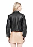 ALEXANDER WANG CROPPED BIKER LEATHER JACKET PARKA Adult 8_n_d